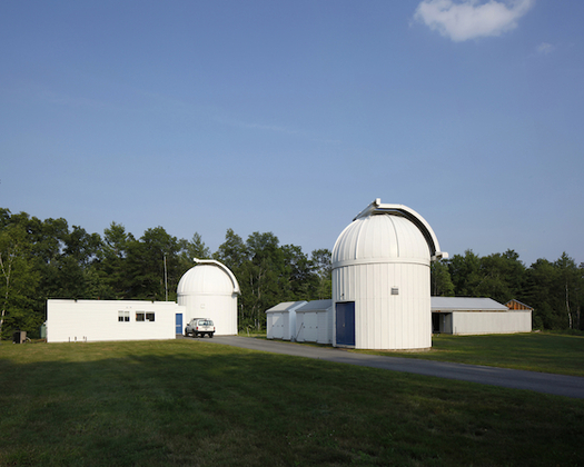 The Wallace Observatory at M.I.T. is one place to safely view today's solar eclipse; people outdoors will need safety glasses. (M.I.T.)