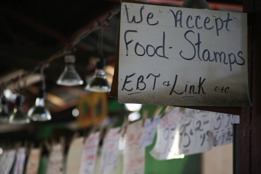 Almost 1.7 million low-income people now receive SNAP benefits in New York City alone. (Paul Sableman/Flickr)