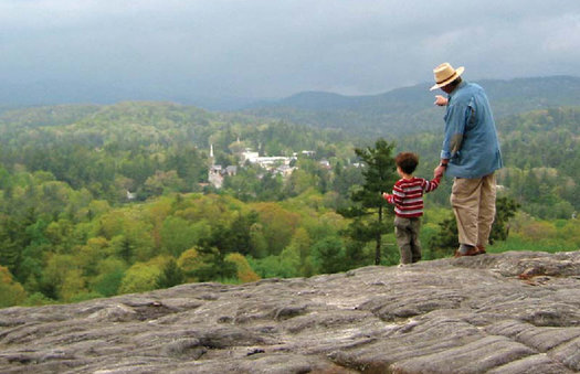 Sunset Rock, protected by the Highlands-Cashiers Land Trust, is said to be one of the best places to view Monday's total solar eclipse. (Highlands-Cashiers Land Trust)