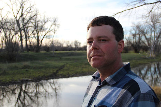Rancher Seth Newton has been concerned for years about a radioactive oil waste facility upstream from his property. (Northern Plains Resource Council)