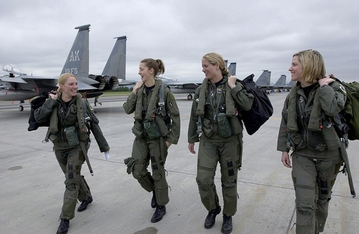 Women are finding equality in some areas of military service, but overall in Texas and the U.S., research indicates they are losing ground. (Wikimedia Commons)