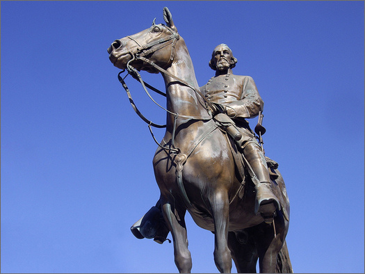This statue of Nathan Bedford Forrest is one of two that some Memphis residents are asking be removed. (Ron Cogswell/Flickr)