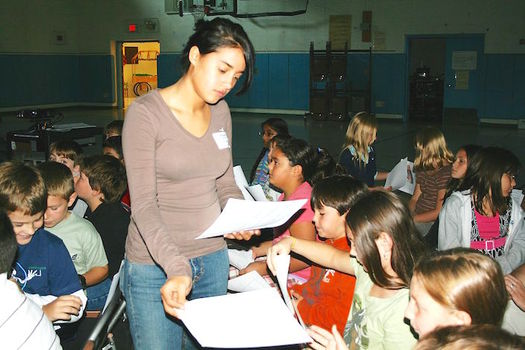 Only about 40 percent of New York children were rated proficient by tests in English and math. (Michelle Collins/Wikimedia Commons)
