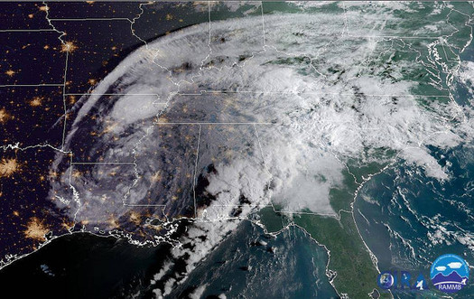 The American Red Cross and other disaster-relief groups are monitoring the remnants of Hurricane Harvey so they can react accordingly. (NOAA)