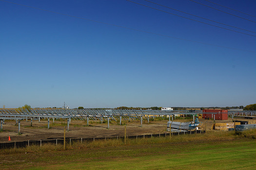 A solar farm near Paynesville is one of the state's largest. (Greg Gjerdingen/Flickr)