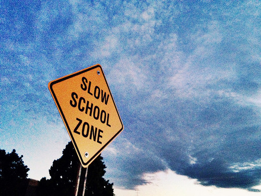 Reduced speeds in school zones keep children safe and are especially important to note as students head back to the classroom. (David Mulder/Flickr)