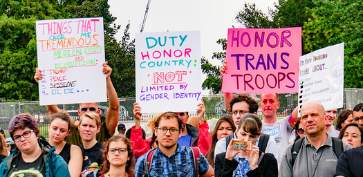 Estimates on the number of transgender people currently on active duty who could be affected by the ban range from about 1,300 to almost 9,000. (Ted Eytan/Flickr)