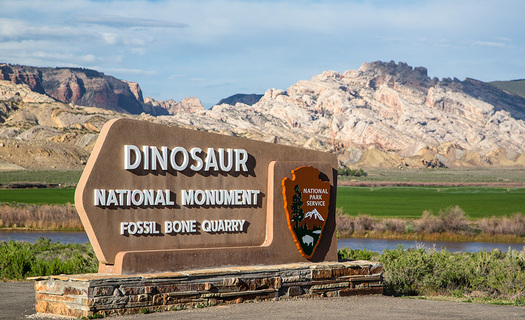 Oil and gas production on one parcel of public land opened by the BLM for drilling would be visible from the visitor center at Dinosaur National Monument. (National Park Service)