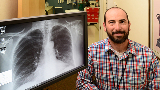 Scott Bookman with Uncompahgre Medical Center in Norwood says connectivity issues can slow transmission of medical images such as x-rays to remote radiologists, hampering diagnosis and care for patients. (David Cornwell)