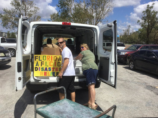 Long after the hurricanes have passed, hard work and hazards remain. Members of Florida's labor unions are pitching in to help. (Florida AFL-CIO)
