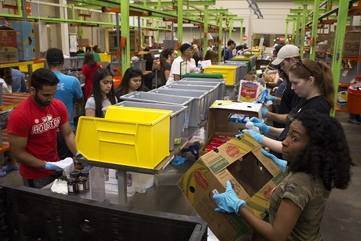 Houston Food Bank officials say their volunteers have processed and distributed more than 1.5 million pounds of food since Hurricane Harvey. (Houston Food Bank)
