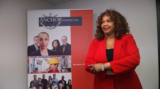 Anchor Staffing on Chicago's South Side has benefited from a partnership between large and small businesses. (Joyce Johnson)
