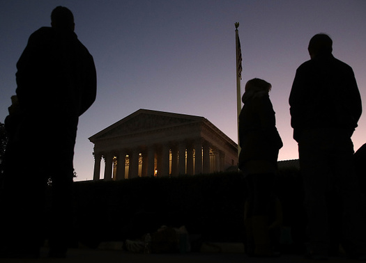 The U.S. Supreme Court heard a case Monday that could affect whether nearly 25 million workers have the right to file class-action lawsuits against their employers. (Mark Wilson/Getty Images)