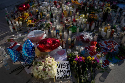 An expert in child traumatic stress says parents should be proactive and check in with their children about the mass shooting in Las Vegas on Sunday. (Drew Angerer/Getty Images)