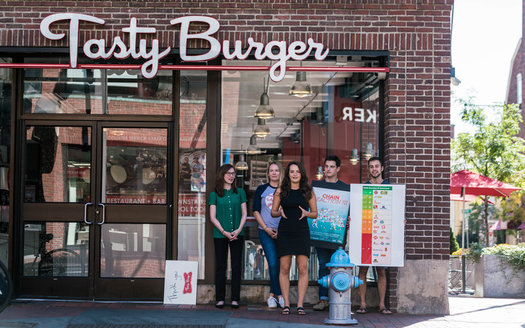 "A Boston-based chain, known for its ""Official Burger of the Red Sox,"" gets high marks for keeping antibiotics out of the food chain. (Oleg Bolotov)"