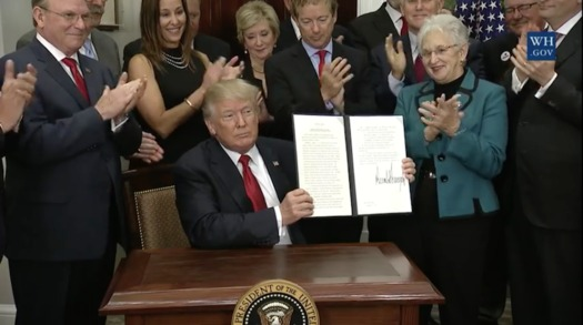 One executive order allows the creation of insurance plans that don't provide essential benefits required by the Affordable Care Act. (White House)