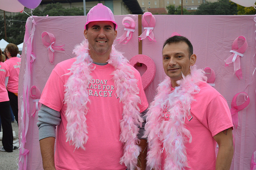 About 2,500 men in the United States are diagnosed with breast cancer each year. (Komen Austin/Flickr)