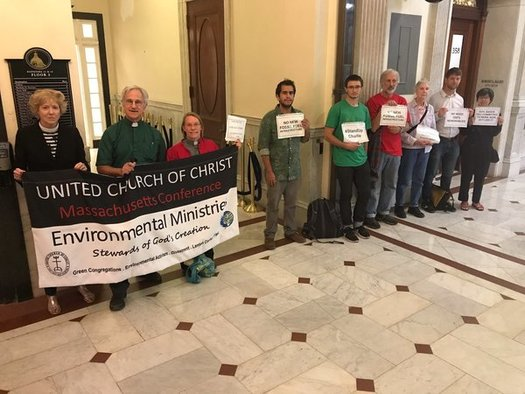 Natural-gas pipeline opponents say they'll protest again Friday at Gov. Charlie Baker's office. (350 Mass For a Better Future)