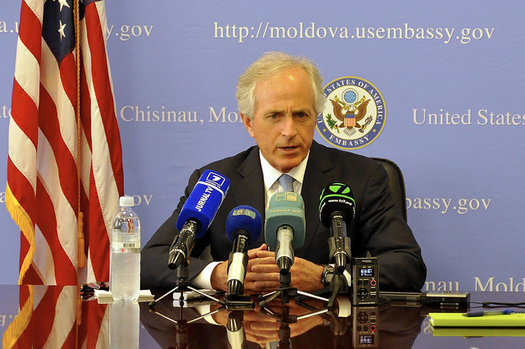 In his position on the Committee on Foreign Relations, Sen. Bob Corker, R-Tenn., held a key spot in international policy. (U.S. Embassy Moldova/flickr)