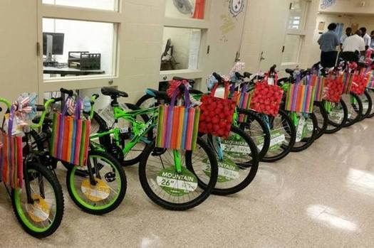 People serving time in some of Ohio's correctional facilities volunteer to assemble bikes for foster children. (Bike Lady, Inc.)