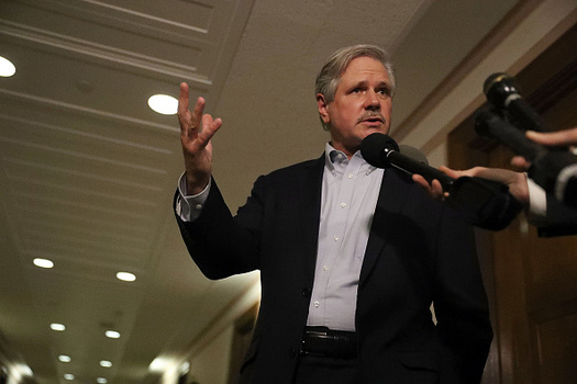Senate Republicans, including John Hoeven, R-N.D., are breaking with House GOP plans to completely repeal the estate tax. (Joe Raedle/Getty Images)