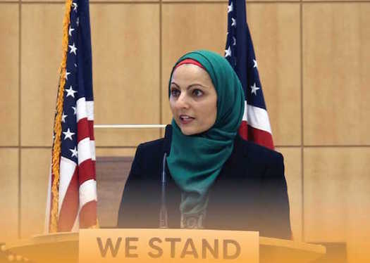 Aneelah Afzali has been speaking directly to communities about the misconceptions surrounding Islam on her tour of Washington cities. (Council on American-Islamic Relation)