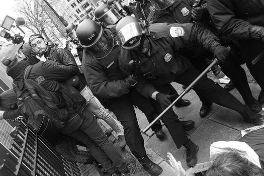 Protests erupted at the Trump inauguration and one journalist faces up to 60 years in prison, accused of participating in a riot he was documenting with his camera. (Shamila Chaudhary/flickr)