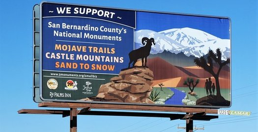 Billboards like this one are popping up across the Inland Empire to build support for California's desert monuments against any federal attempt to shrink them. (29 Palms Inn)
