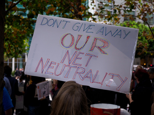 Protests to save net neutrality are scheduled for Dec. 7. (Credo Action/Flickr)