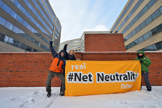 Protestors will gather Thursday outside Verizon stores to protest the repeal of net neutrality. (Graham Boykins/Backbone Campaign)