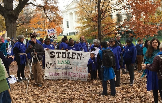 Opponents worried about water quality are pressing Virginia officials to block two huge natural gas pipelines. (Twitter/Virginia Interfaith Power & Light)