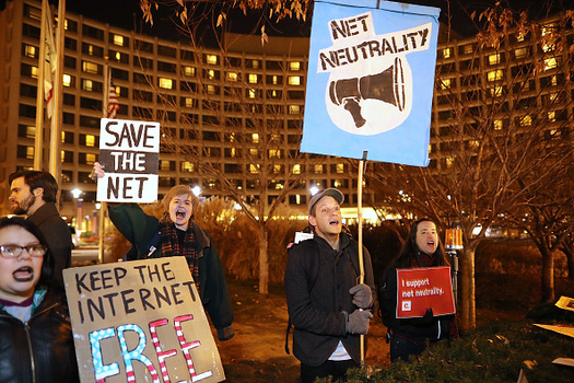Advocates in Ballard are holding a day of action before the FCC's Thursday vote on net neutrality. (Chip Somodevilla/Getty Images)