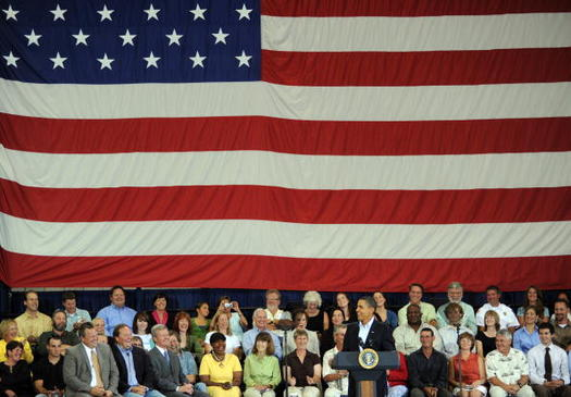 Researchers say some white Americans perceived Barack Obama's presidency as a threat to the social order. (Anne Sherwood/Getty Images)