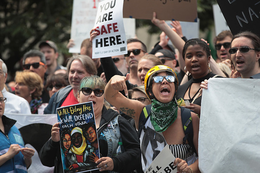 Protests against racism erupted in Portland and across Oregon this summer. (Scott Olson/Getty Images)