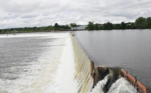 Significant amounts of PCBs remain in river sediments north of the Troy Dam, environmentalists say. (U.S. Army Corps of Engineers)