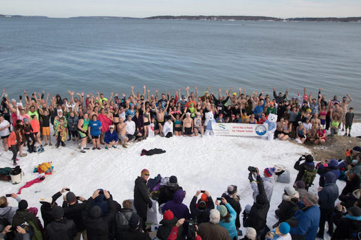 This year's Polar Bear Dip and Dash promises to be the coldest yet. (Natural Resources Council of Maine)