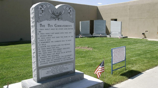 A Wisconsin group wants Santa Fe, N.M., to follow the lead of Bloomfield, N.M., and remove a Ten Commandments monument located on government property. (adflegal.org)