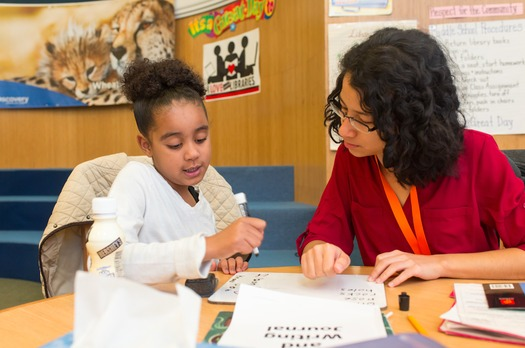 "This January, Reading Partners is sharing stories of mentorship from community volunteers as it kicks off ""Resolutions for Reading"" to support struggling readers. (Reading Partners)"