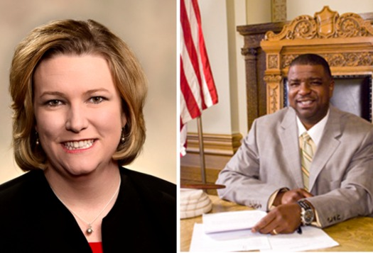 "Dayton Mayor Nan Whaley (L) and Youngstown Mayor Jamael ""Tito"" Brown (R) both say federal leaders need to act on immigration reform. (Wikipedia)"