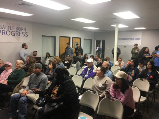 Nevada progressives gathered in Las Vegas to watch the State of the Union address. (Will Pregman)