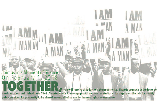 The 1968 sanitation workers' strike in Memphis attracted the attention of Dr. Martin Luther King, Jr. (iam2018.org)