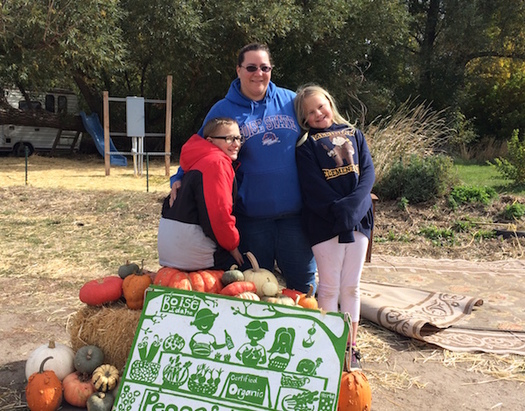 Lajohnna Honey was part of the Food Is Medicine pilot program, and got to pick her own fresh food at a local farm. (Idaho Hunger Relief Task Force)