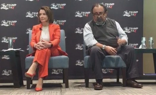 U.S. Reps. Nancy Pelosi, D-Calif., and Raul Grijalva, D-Ariz. talked tax reform at an event in Phoenix on Tuesday. (Office of Rep. Pelosi)