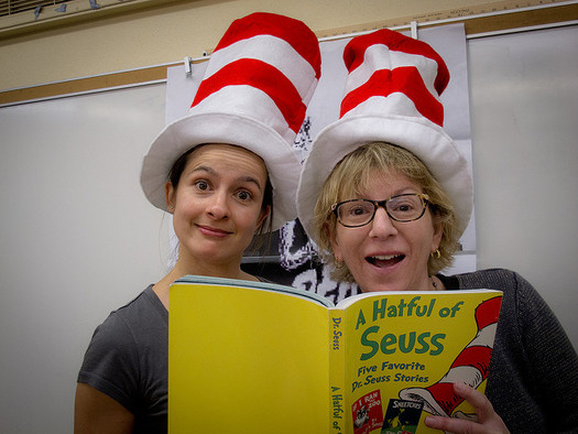 Experts say parents, teachers and other adults can be reading role models for kids. (Louis Palanker/Flickr)