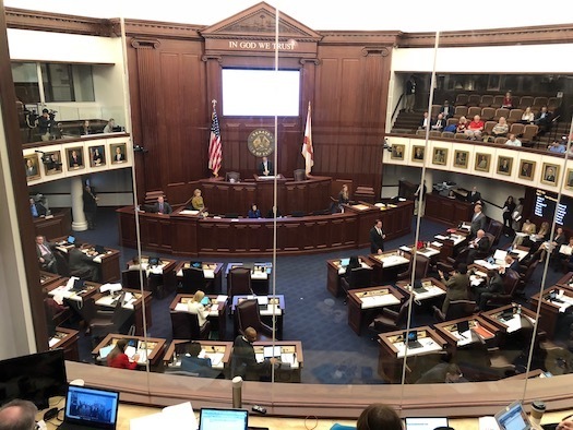 Democrats in the Florida Senate want to ban weapons such as the AR-15 assault-style rifle, which was used to kill 17 people at Marjory Stoneman Douglas High School on Feb. 14. (Trimmel Gomes)