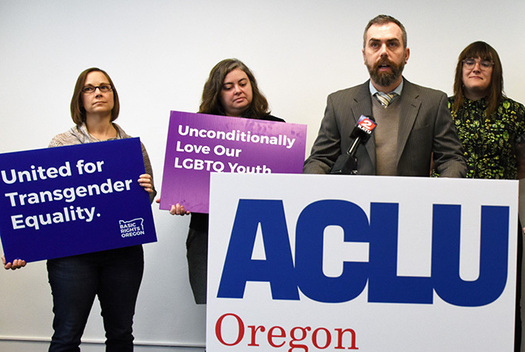 A lawsuit challenges Oregon's protections for transgender students. (ACLU of Oregon)
