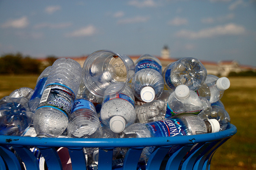 According to a new report by Food and Water Watch, 70 percent of water bottles aren't recycled. (Mr.TinDC/Flickr)