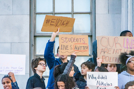 Students nationwide walked out of class last week to protest gun violence. (Jeffrey Bary/Flickr)