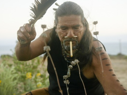 Mati Waiya, a Chumash elder, is leading the effort to defeat a power plant on the banks of the Santa Clara River in Santa Paula. (Chris Jordan-Bloch/Earthjustice)