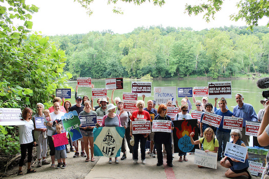 A TransCanada pipeline extension is the subject of protests from Pennsylvania through Maryland to West Virginia. It would enter Maryland just west of Hancock. (Stacy Miller)